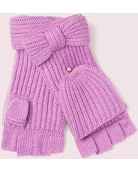 Kate Spade Bow Pop Top Gloves - Pink