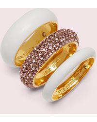 Kate Spade Candy Drops Pavé Ring Set - Multicolor