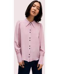 Kate Spade Silk Point Collar Blouse - Multicolour