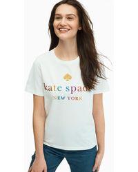 Kate Spade Rainbow Tee, Freshwhite - Xs - Multicolor