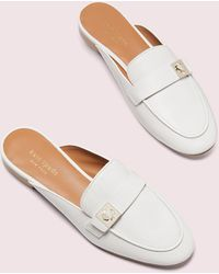 Kate Spade Catroux Slide Loafers - White