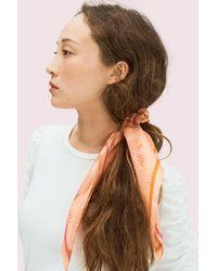 Kate Spade Falling Flower Hair Tie And Bandana Set - Multicolor