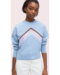 Kate Spade Graphic Intarsia Jumper - Blue