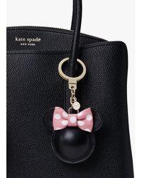 Kate Spade Key Fobs Minnie Mouse Leather Bag Charm - Black