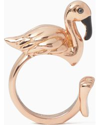 Kate Spade - By The Pool Flamingo Ring - Lyst