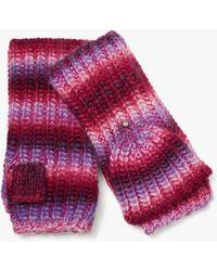 Kate Spade Marled Stripe Pop-top Gloves - Multicolour