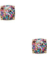 Kate Spade - Kate Spade Small Square Studs - Lyst