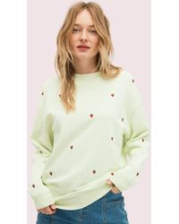 Kate Spade Embroidered Berry Sweatshirt - Natural