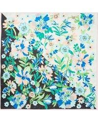 Kate Spade Full Bloom Silk Square Scarf - Black
