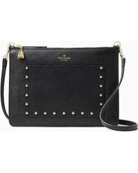 Kate Spade - On Purpose Studded Leather Crossbody - Lyst