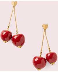 Kate Spade Tutti Fruity Gerade Ohrringe Mit Verzierungen In Kirschform - Red