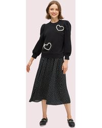 Kate Spade Pearl Pavé Heart Sweatshirt - Black