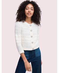 Kate Spade Jewel Button Texture Cardigan - Multicolor