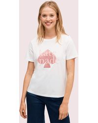 Kate Spade T-shirt Mit Glitzerlogo - White