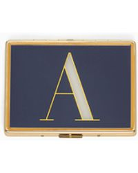 Kate Spade Leather Initial Keychain in j (Metallic) - Lyst