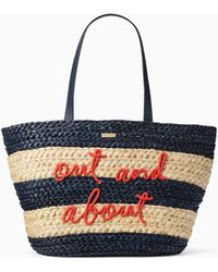 Kate Spade - Shore Thing Out And About Straw Tote - Lyst