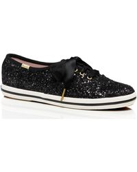 Kate Spade Keds X New York Glitter Trainers - Black