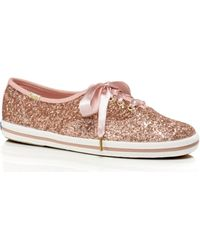 Kate Spade Keds X New York Glitter Trainers - Pink