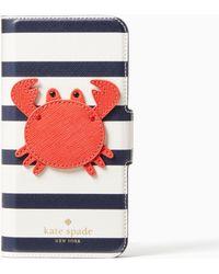 Kate Spade - Crab Applique Folio Iphone Cases 7 & 8 Case - Lyst