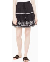 Kate Spade - Mosaic Embroidered Skirt - Lyst