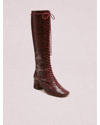 Kate Spade Lake Lace-up Boots - Red