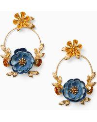 Kate Spade - Flower Child Door Knocker Earrings - Lyst