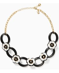 Kate Spade - Rosy Posies Link Necklace - Lyst