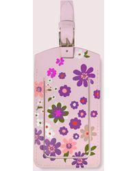 Kate Spade Pacific Petals Luggage Tag - Pink