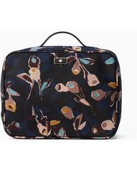 Kate Spade Dawn Paper Rose Travel Cosmetic - Black