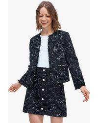 Kate Spade Embellished Tweed Jacket - Black