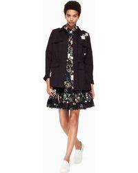 Kate Spade - Floral Army Jacket - Lyst