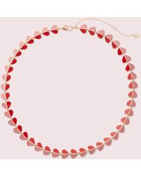 Kate Spade Heritage Spade Enamel Heart Necklace - Pink
