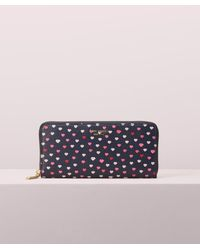Kate Spade Sylvia Lips Slim Continental Wallet - Blue