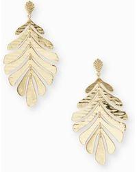 Kate Spade - A New Leaf Statement Earrings - Lyst