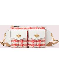 Kate Spade Cargo Tweed Medium Belt Bag - Pink