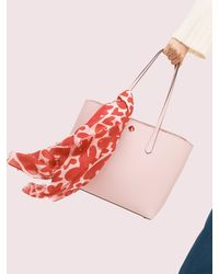 Kate Spade Painterly Hearts Oblong Scarf - Pink