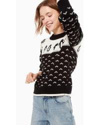Kate Spade - Penguin Intarsia Sweater - Lyst