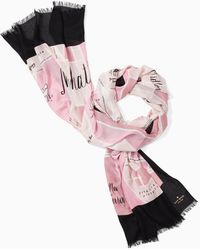 Kate Spade Manhattan Map Oblong Scarf - Pink