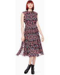 Kate Spade - Tapestry Chiffon Midi Dress - Lyst