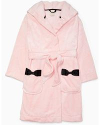Kate Spade - Hooded Bow Robe - Lyst