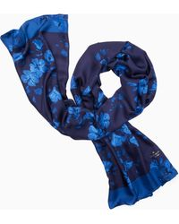 Kate Spade - Hibiscus Silk Oblong Scarf - Lyst