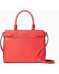 Kate Spade Staci Colorblock Medium Satchel - Red