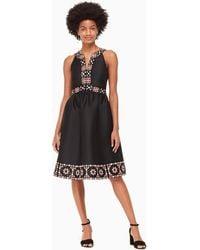 Kate Spade - Mosaic Embellished Midi Dress - Lyst