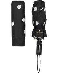Kate Spade - Black And Cream Deco Dot Travel Umbrella - Lyst