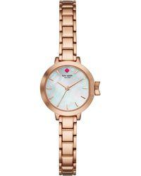 Kate Spade - Rose Gold Mini Park Row Watch - Lyst