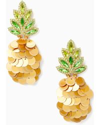 Kate Spade - By The Pool Pineapple Statement Studs - Lyst