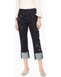 Kate Spade Night Sky Embellished Jean - Blue