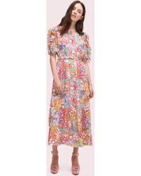 a9410a919fa9 Kate Spade - Floral Dots Ruffle Midi Dress - Lyst