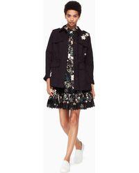 Kate Spade Floral Army Jacket - Black