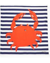 Kate Spade - Crab Silk Square Scarf - Lyst